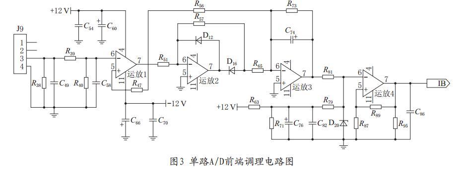 整流电路将交流电压信号转换为直流电压信号,采用lm324运放处理后输入