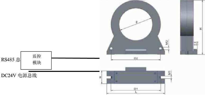 电气火灾监控探测器与监控模块接线示意图_副本.jpg